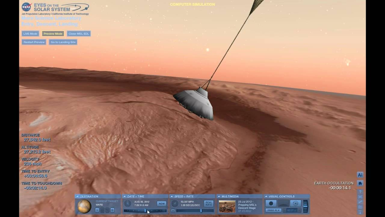 mars curiosity landing simulation - photo #7