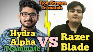 Razer Blade + Real Gamer Vs Hydra Alpha Teammate Kunal Gamer Fight in Georgopol | Pubg emulator
