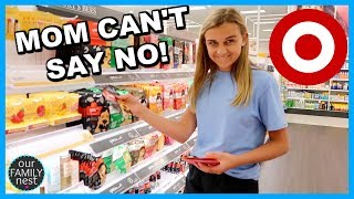 MOM CAN'T SAY NO IN TARGET! NO LIMIT SHOPPING!