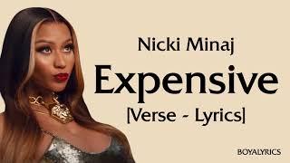 Nicki Minaj - Expensive (Verse - Lyrics) i got a shopping problem, expensive taste - tiktok