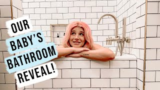 Our Baby's Bathroom Reveal! | OMG We're Having A Baby