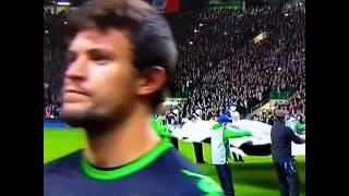 Celtic fans drown out the Champions League anthem