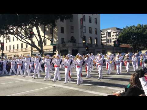 Mexico Marching band on Rose Parade 1st January 2015, Pasadena California