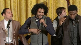 Hamilton cast performs