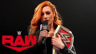 Becky Lynch calls out Asuka: Raw, Dec. 23, 2019