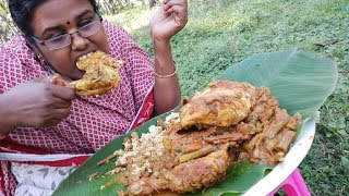 Cooking Full Chicken with Drumsticks and Eating in My Village / Super Taste / Food Money Food