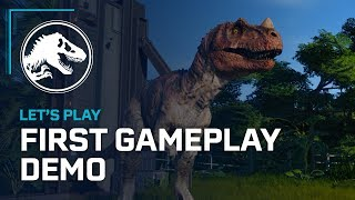 Jurassic World Evolution - First Gameplay Demo