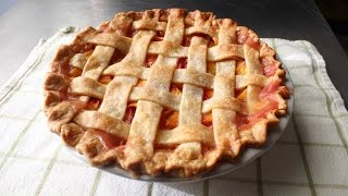 Peach Pie - How to Make a Lattice-Top Peach Pie