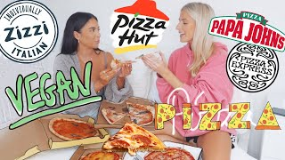 VEGAN PIZZA TASTE TEST!!! are they any good!? | Sophia and Cinzia