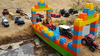 Build Bridge Blocks Toys For Kids Excavator Dump Truck Construction Vehicles For Children