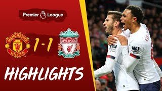 Man Utd 1-1 Liverpool | Late leveller at Old Trafford | Highlights
