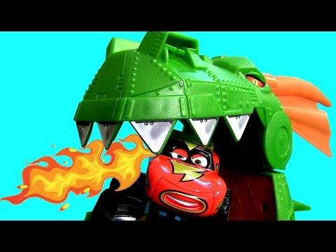 Monster Truck Lightning McQueen Eaten by Dragon Pixar Cars Off-Road Frightning McMean Hot Wheels
