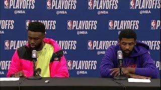 Kyrie Irving & Jaylen Brown Postgame Interview - Game 3 | Celtics vs Pacers | 2019 NBA Playoffs