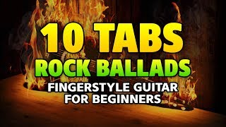 10 Greatest Rock Ballades (fingerstyle acoustic solo guitar cover with TABS)
