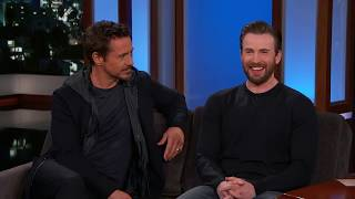 rdj and chris evans being the most iconic duo for 4 minutes straight