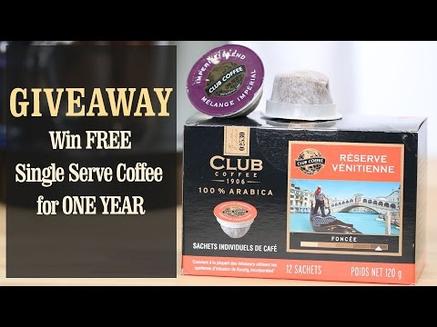 Win FREE Single Serve Coffee (compatible with K-Cup Brewer) for a Year!
