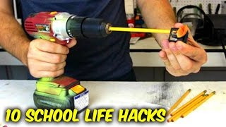 10 Back to School Life Hacks