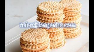 Industrial Round Waffles Making Machine|Italian Pizzelle Baking Machine|Kuih Kapit Baking Machin