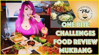Vietnamese Food One-Bite Challenges | Food Review Mukbang at Pho10 Huntington Beach | RainaisCrazy