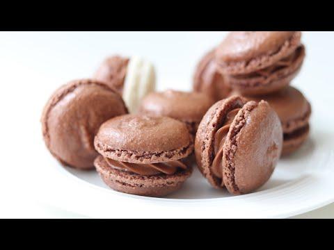 チョコレートマカロンの作り方 Chocolate Macaron HidaMari Cooking