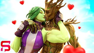 GROOT'S FIRST EVER KISS.... ( Fortnite Film )