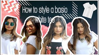 HOW TO STYLE A BASIC WHITE TEE | WHITE TSHIRT LOOKBOOK 2019 | SWIMSUIT DIY | YASHVI BAGGA