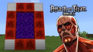 How To Make a Portal to the Attack on Titan Dimension in Minecraft Pocket Edition