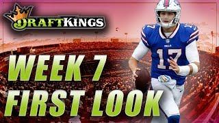 DRAFTKINGS NFL DFS WEEK 7 FIRST LOOK LINEUP