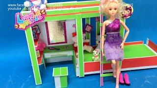 Cách làm giường 2 tầng cho Búp bê kiểu 2, How to make a bunk bed for doll 2 , búp bê barbie ,vlog 65