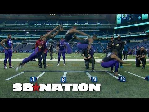 CB Byron Jones broad jump record at 2015 NFL scouting ...