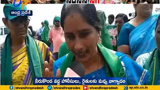 Amaravati Farmers Stopped Roja Vehicle In Mangalagiri..