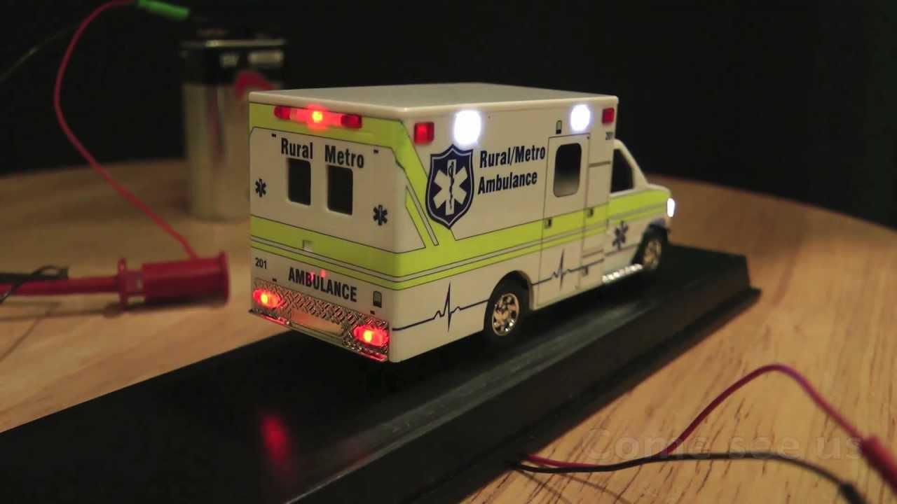 Ho Scale Ambulance With Flashing Led Lighting Youtube