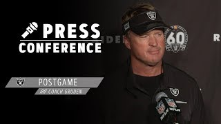 Coach Gruden Postgame Presser - 10.27.19 | Raiders