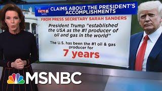 For Fact's Sake: President Trump Did Not Create The 'Greatest' U.S. Economy   Velshi & Ruhle   MSNBC