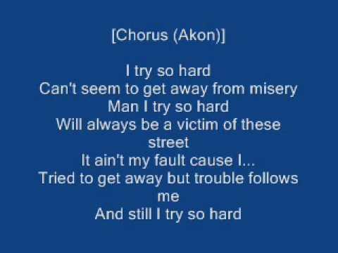 Bones Thugs N Harmony Ft Akon I Tried Lyrics