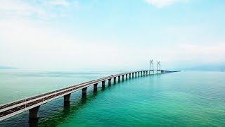 World's longest sea bridge opens for traffic..