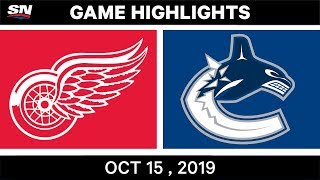 NHL Highlights | Red Wings vs. Canucks – Oct. 15, 2019