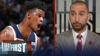 Nick Wright reacts to Jimmy Butler's trade request out of Minnesota   NBA   FIRST THINGS FIRST