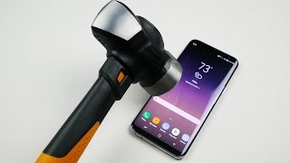 Samsung Galaxy S8 Plus Hammer & Knife Scratch Test