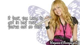 Hannah Montana - Que Sera (Lyrics Video) HD