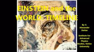 EINSTEIN and the WORLD: TIMELINE, By V. Alexander Stefan; Institute for Advanced Physics Studies