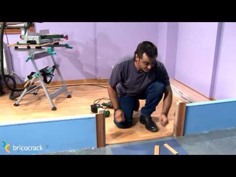 Instalar tarima de suelo o piso laminado en click 2 - Como poner un suelo de madera ...