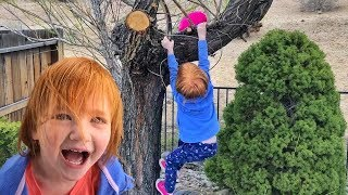 FAMILY DAY hidden MONEY EGG hide n seek!! backyard play with Adley and baby brother!