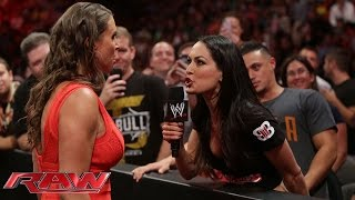 Stephanie McMahon confronts Brie Bella: Raw, July 21, 2014