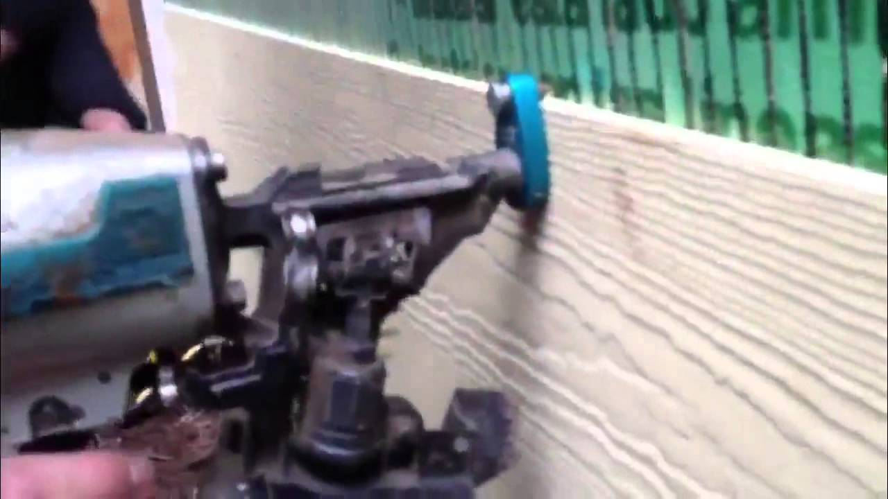 Ezi Gauge Siding Nail Gun Attachment Youtube