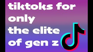 tiktoks for only the elite of gen z