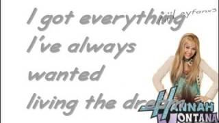 Hannah Montana - Just like you [w/Lyrics] HQ