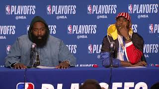James Harden & Chris Paul Postgame Interview - Game 5 | Rockets vs Warriors | 2019 NBA Playoffs