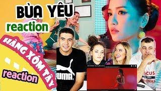 Người nước ngoài react MV BÙA YÊU - Bích Phương | Hàng Xóm Tây