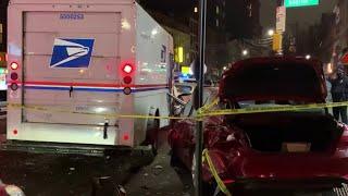 Woman Goes on Destructive Joyride in Stolen Postal Truck | NBC New York
